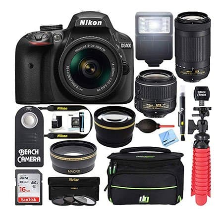 bundle-Nikon-D3400-with-flashlight-and-memory-card