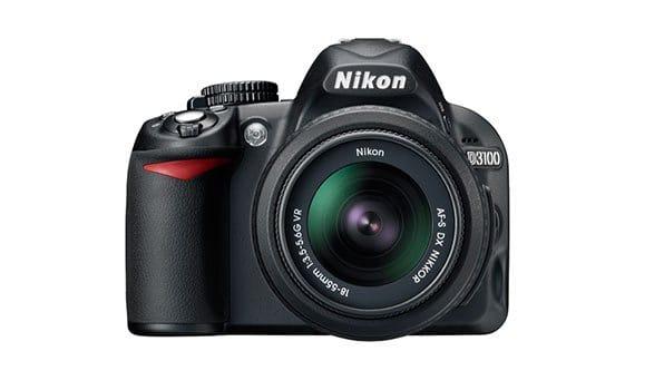 Nikon-D3100-camera-body-with-stock-lens