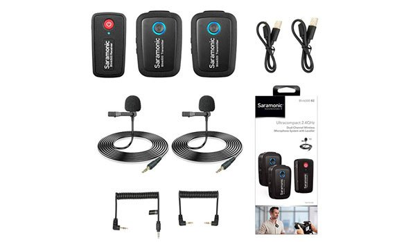 Saramonic-Ultracompact-2-4GHz-Dual-channel-Wireless-Microphone-Kit-Blink-500